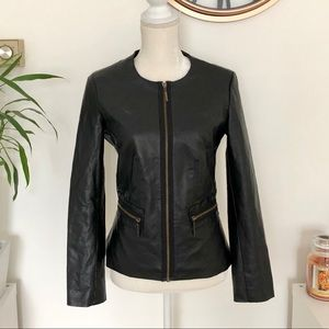 ♟Dana Buchman♟Faux Leather Black Jacket
